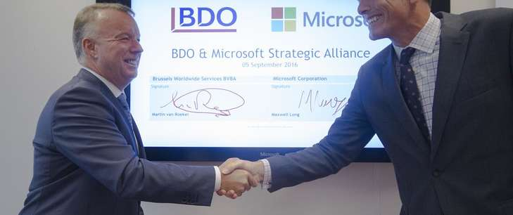 BDO announces worldwide strategic alliance with Microsoft
